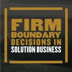 Firm Boundary Decisions in Solution Business