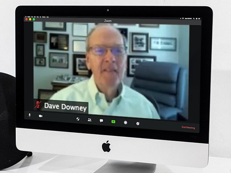 Dave Downey on a Zoom call