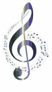 treble clef and music notes