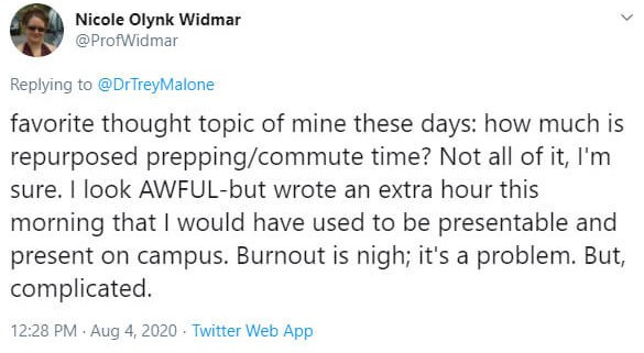 a Twitter reply from Dr. Nicole Widmar